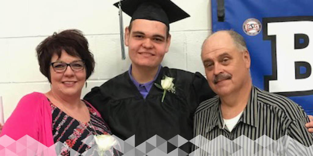 Holden with his parents