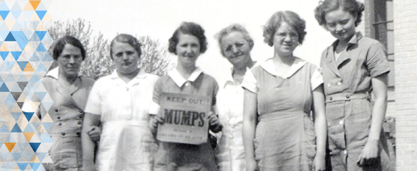 Some of the sisters pose for a photo on campus.
