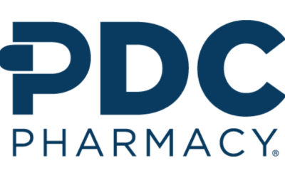 PDC logo displays PDC bold and in blue. Below that is the word